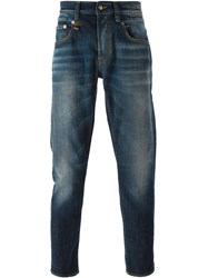 R 13 R13 Faded Jeans Blue