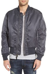 Alpha Industries Men's 'Ma 1' Slim Fit Bomber Jacket Replica Blue