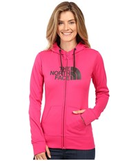 The North Face Fave Half Dome Full Zip Hoodie Cabaret Pink Asphalt Grey Women's Sweatshirt