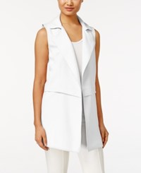 Calvin Klein Long Moto Vest Soft White