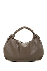 Kenneth Cole New York No Slouch Leather Hobo Gray