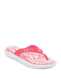 Under Armour Marbella Thong Sandals Pink