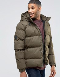 Bellfield Black Jacket With Tubular Quilting Dark Olive Green