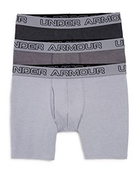 Under Armour Charged Cotton Boxer Briefs Pack Of 3 Greys