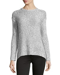 Philosophy Marled Chain Knit Pullover Blackbird Off White