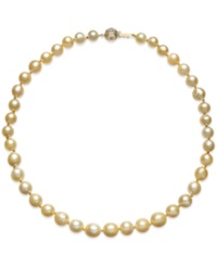 Macy's Golden South Sea Cultured Pearl Necklace 8 10Mm In 14K Gold Yellow