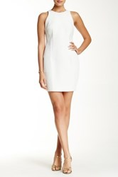 Alexia Admor Faux Leather Embossed Sheath Dress White