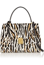 Mark Cross Hadley Medium Animal Print Calf Hair Tote Animal Print