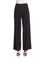 1.State Pleated Wide Leg Pants Rich Black