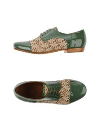 Latitude Femme Lace Up Shoes Military Green