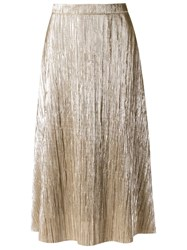 Giuliana Romanno Metallic Midi Skirt