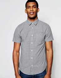United Colors Of Benetton Gingham Short Sleeve Shirt Black