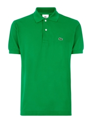 Lacoste Pique Men S Short Sleeve Polo Dark Green