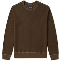 Wings Horns Wool Crew Knit Green