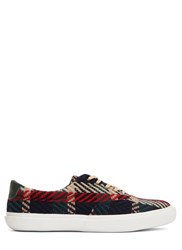 Spingle Move Woven Chevron Low Top Sneakers Navy