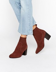 Asos Represent Premium Leather Chelsea Ankle Boots Rust Brown