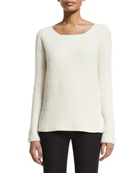 Michael Kors Collection Chunky Knit Cashmere Sweater White