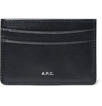 A.P.C. Leather Cardholder Blue