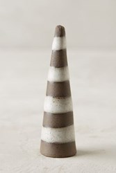 Anthropologie Patterned Ceramic Ring Cone Stripes