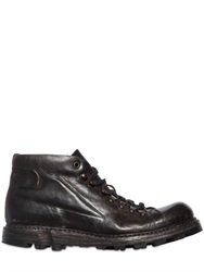 Shoto Washed Leather Combat Boots
