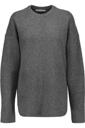 Alexander Wang Oversized Wool And Cashmere Blend Sweater Gray
