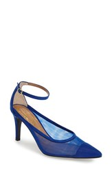 Women's J. Renee 'Jena' Ankle Strap Pump Royal Blue