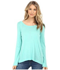 Splendid Very Light Jersey 3 4 Length Sleeve Sea Green Women's T Shirt