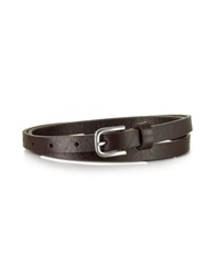 Forzieri Dark Brown Skinny Leather Belt