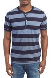 Men's Lucky Brand 'Mocktwist' Stripe Short Sleeve Henley