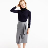 J.Crew Collection Skirt In Italian Wool Flannel