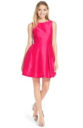 Junior Women's Soprano Bow Back Fit And Flare Dress Hot Pink