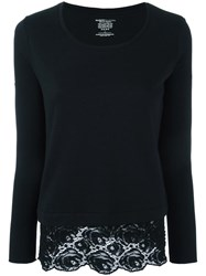 Majestic Filatures Lace Detailing Jumper Black