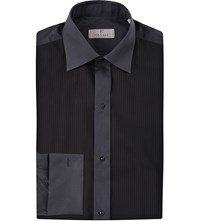 Canali Modern Fit Bib Front Shirt Black