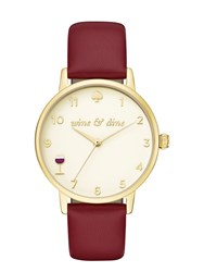 Kate Spade Wine And Dine Metro Watch