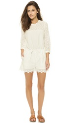 Madewell Eyelet Romper Pure White