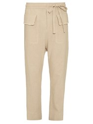 Damir Doma Low Slung Hemp And Cotton Blend Trousers Beige