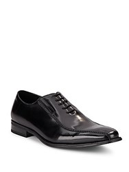 Kenneth Cole Fold It Over Leather Oxfords Black
