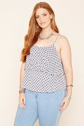 Forever 21 Plus Size Geo Flounce Cami