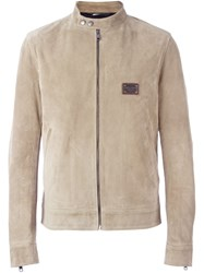 Dolce And Gabbana Suede Jacket Nude And Neutrals