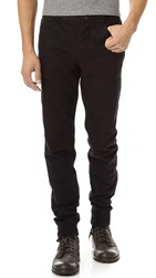 Alexander Wang Twill Jeans With Leather Back Pocket Black