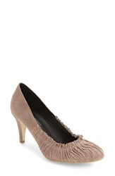 Jeffrey Campbell Women's Atwater Pleated Toe Pump Taupe Suede