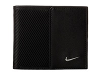 Nike Leather Tech Twill Billfold Black Bill Fold Wallet