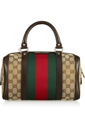 Gucci Vintage Web Small Monogrammed Canvas Tote