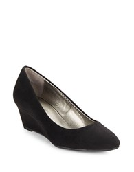 Bandolino Franci Suede Wedge Pumps Black