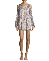 Haute Hippie The Flowers In The Sun Floral Silk Dress Multicolor Paisley Floral