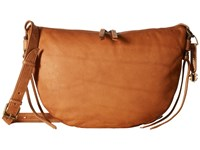 Lucky Brand Nyla Crescent Hobo Tobacco Handbags Brown