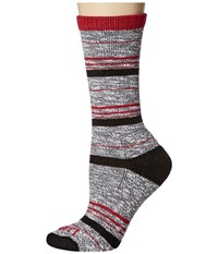 Carhartt Merino Wool Blend Slub Stripe Black Women's Crew Cut Socks Shoes