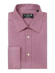 New And Lingwood Totnes Yarndye Geo Shirt Red