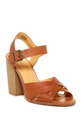 Melrose And Market Leather Ankle Strap Pump Brown