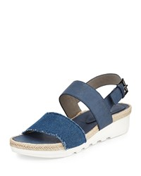 Eileen Fisher Sally 2 Slingback Espadrille Sneaker Denim Blue Women's